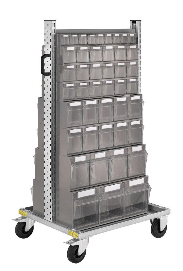 SETAM Chariot d'atelier avec 88 blocs tiroirs en plastique