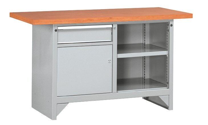 SETAM Etabli d'atelier avec plateau bois et tiroir 1m50