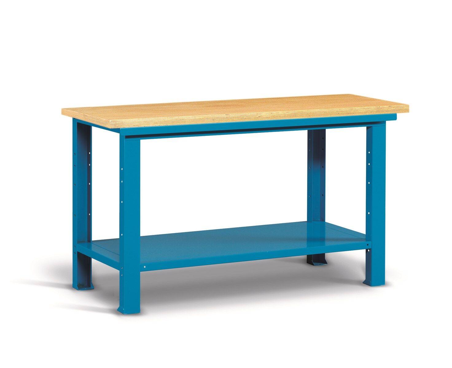 SETAM Etabli d'atelier plateau bois 1m50