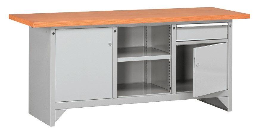 SETAM Etabli de mécanicien avec plan travail bois 2 mètres