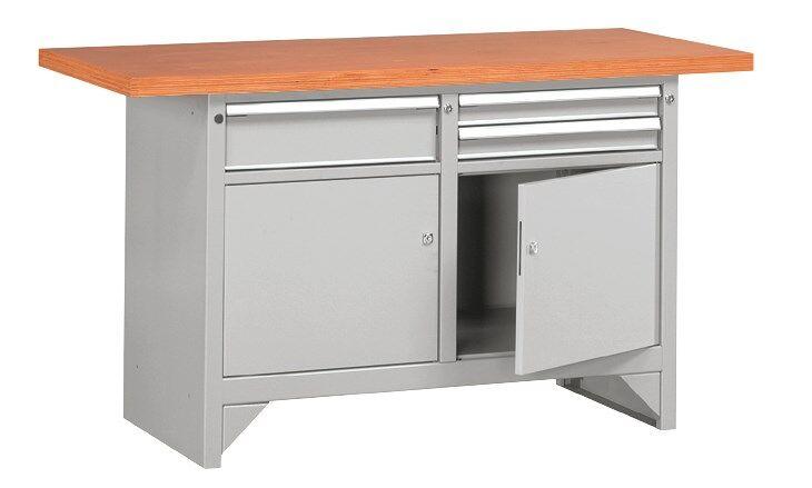 SETAM Etabli lourd métallique avec tiroirs L.150 cm