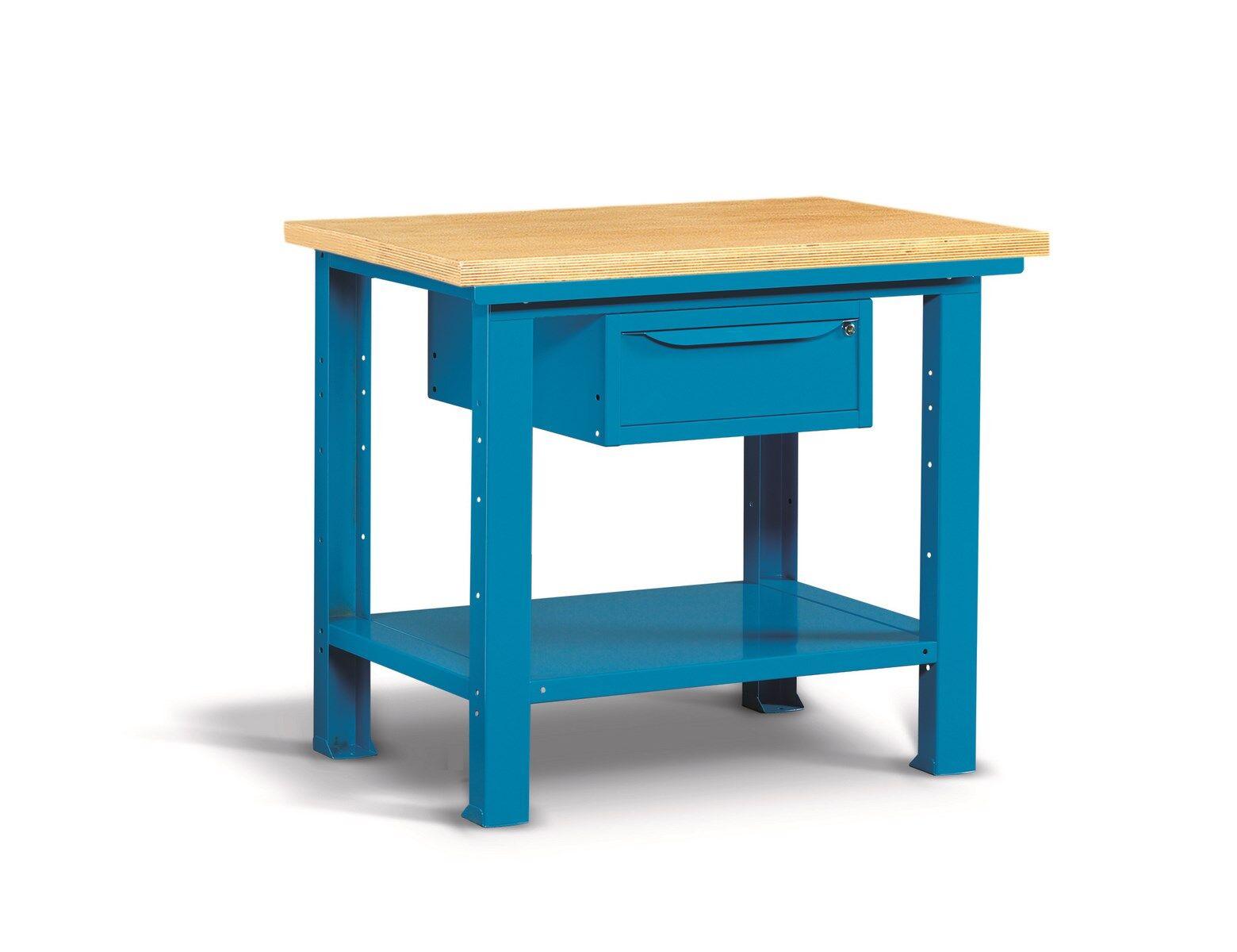 SETAM Etabli pro plateau bois et tiroir 1m