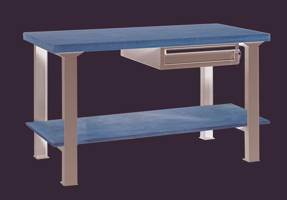 SETAM Etabli professionnel avec tiroir et plateau bois L2500