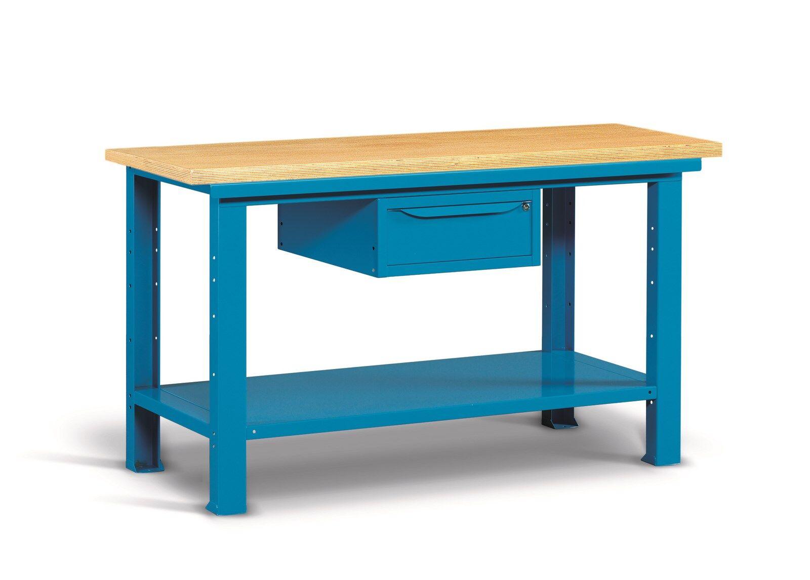 SETAM Etabli professionnel plateau bois et tiroir 1mètre 50