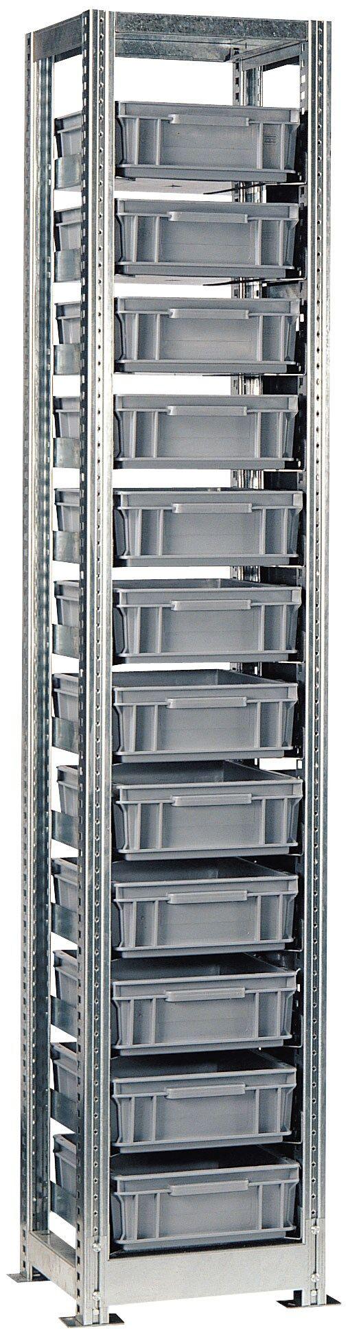 SETAM Etagère modulable avec 12 bacs plastiques 10 Litres