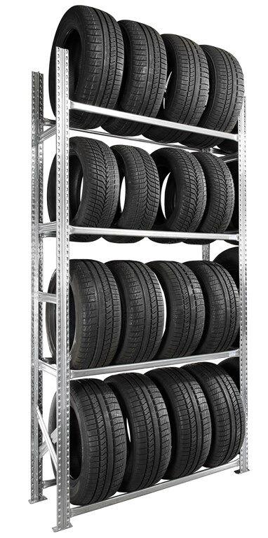 SETAM Etagère pneus voiture kit départ 4 niveaux 50 cm
