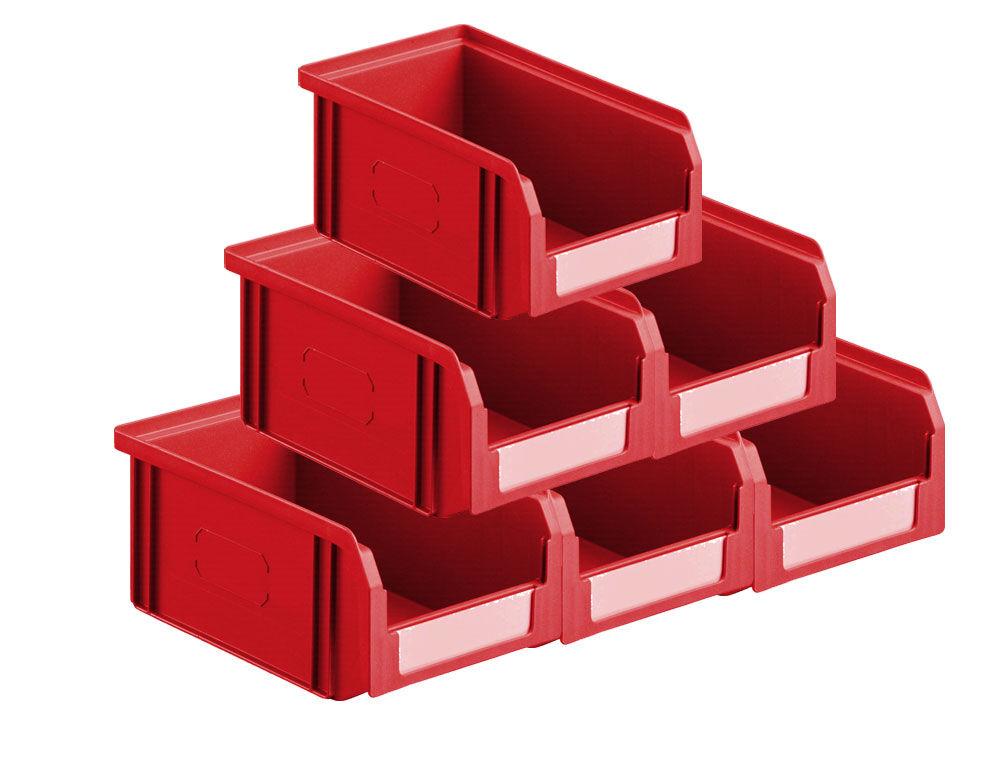 SETAM Lot de 50 bacs à bec plastiques 1 litre rouge
