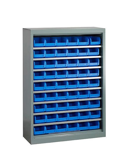 SETAM Meuble atelier avec 54 bacs à bec plastique 1 litre