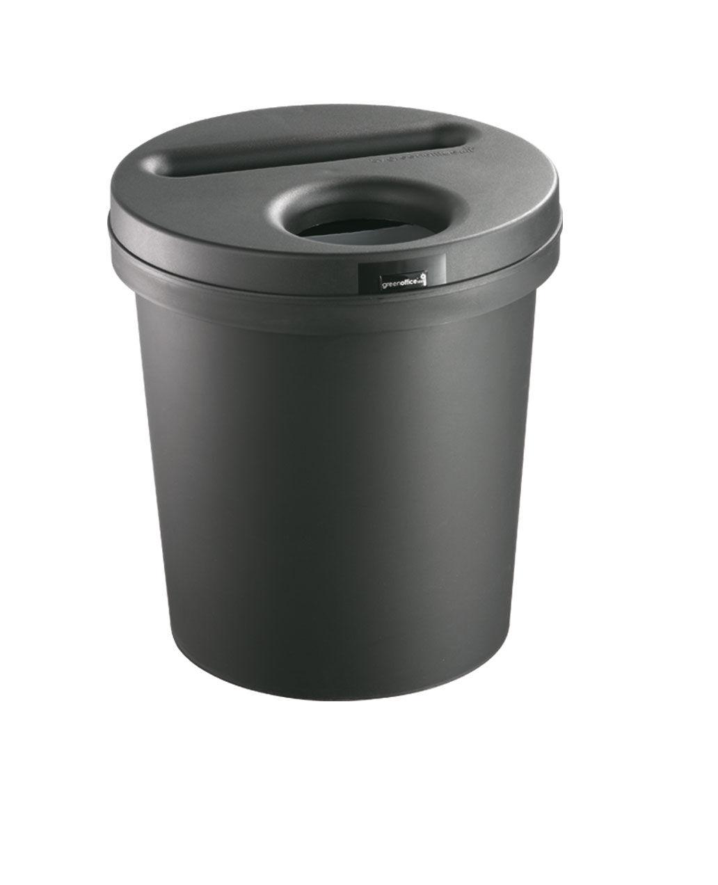 SETAM Poubelle bureau tri sélectif 30L. papier et autres déchets