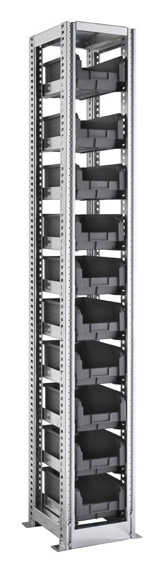 SETAM Rayonnage avec 10 bacs plastique 9.4 litres