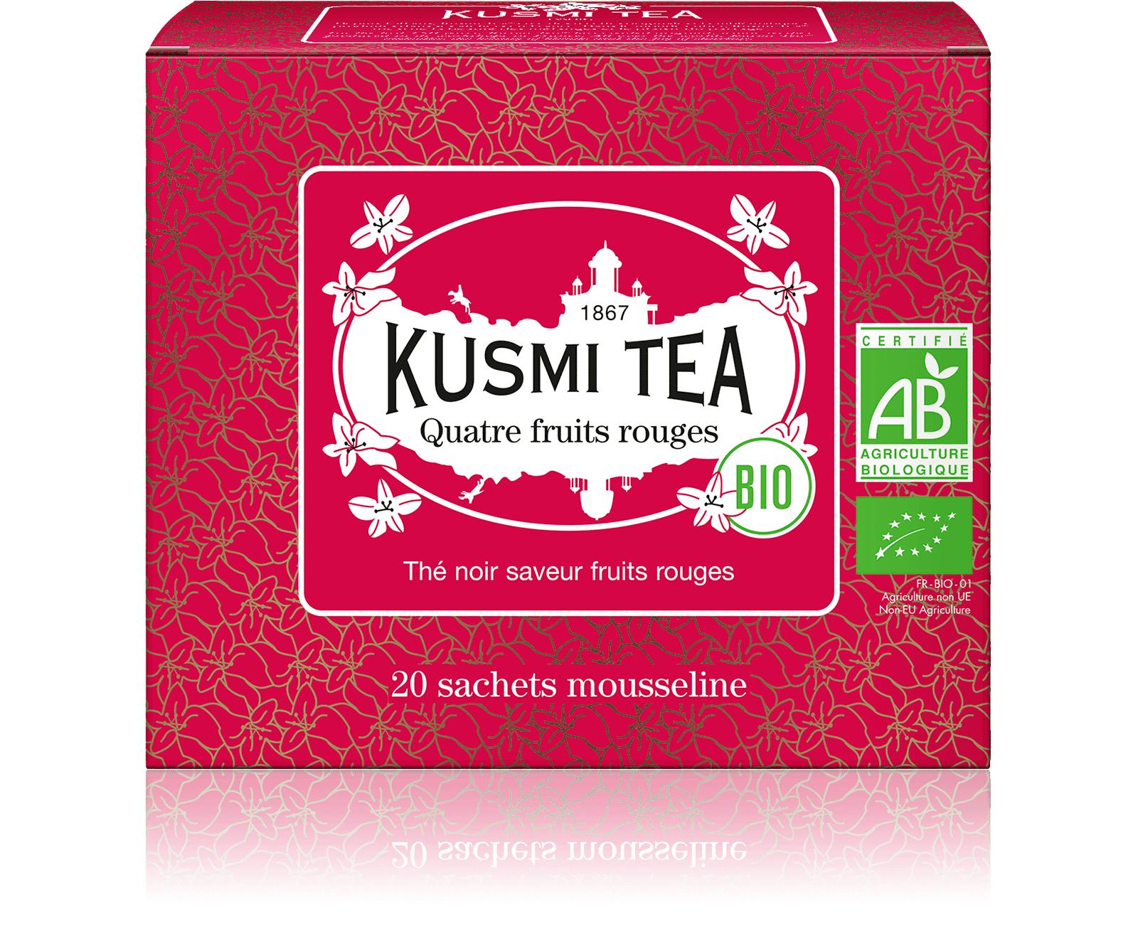 KUSMI TEA Quatre Fruits Rouges bio - Thé noir, fruits rouges - Sachets de thé - Kusmi Tea