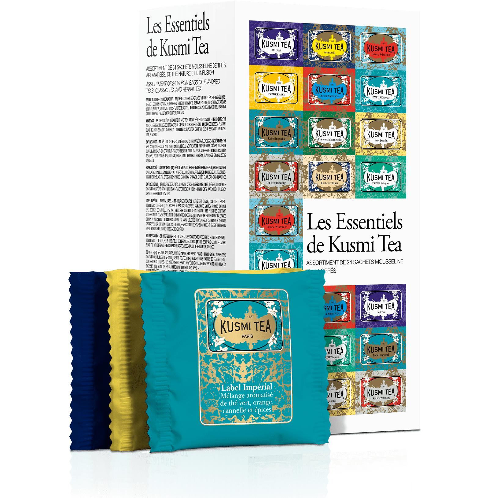 KUSMI TEA Coffret les Essentiels de 24 sachets de thé Kusmi Tea