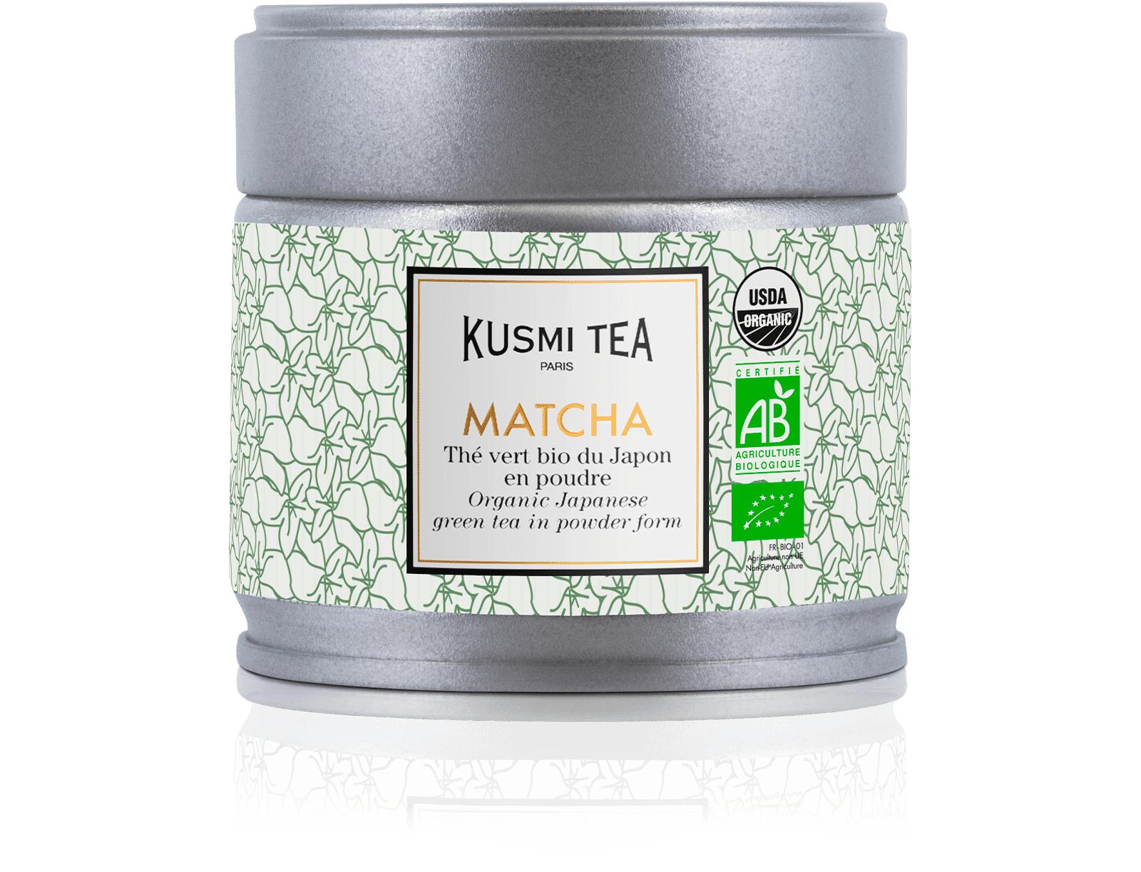 KUSMI TEA Matcha bio - Thé vert bio du Japon en poudre - Boite à thé en vrac - Kusmi Tea
