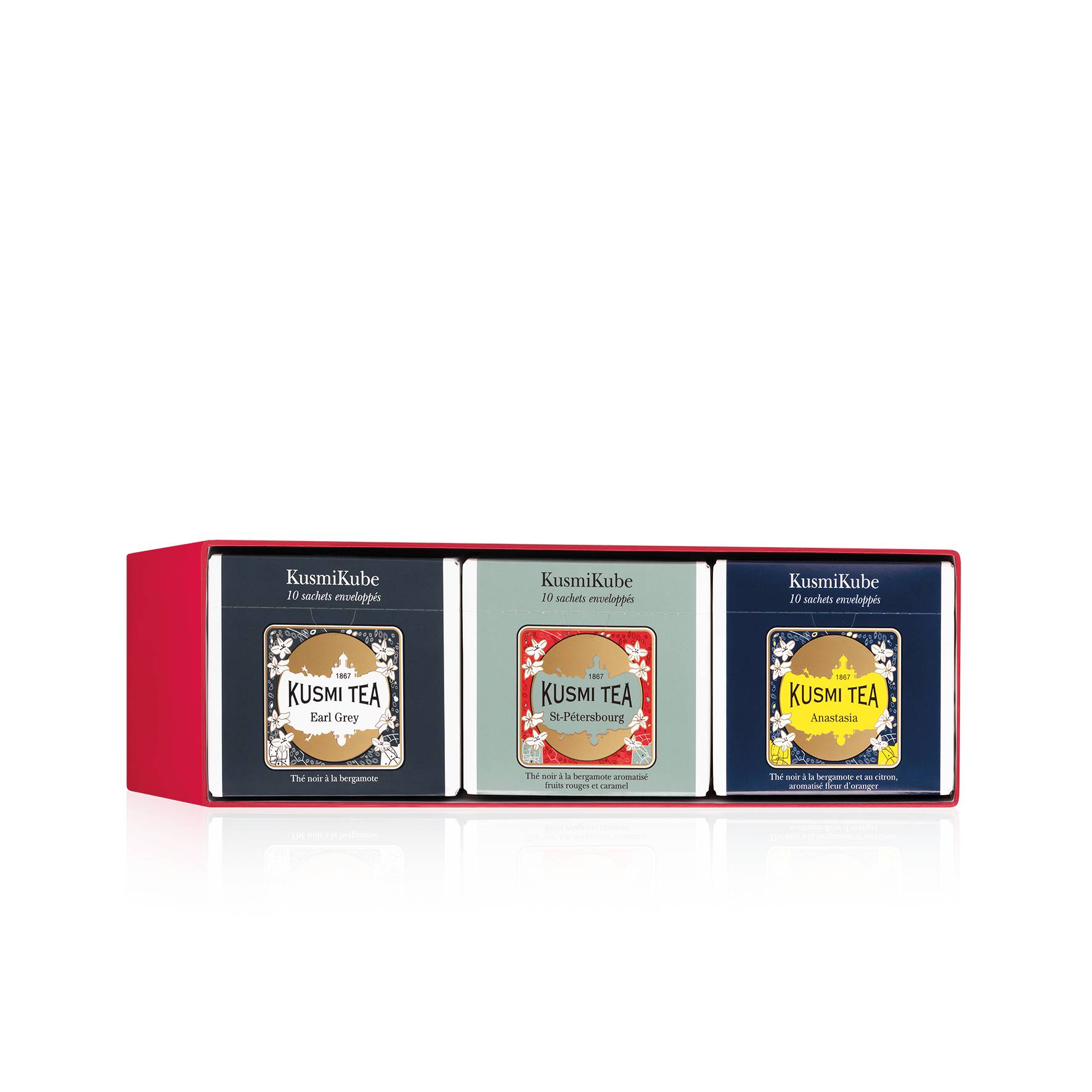 KUSMI TEA Coffret 3 KusmiKubes - Votre coffret de 3 KusmiKubes (30 sachets) à 2.2€ - Kusmi Tea