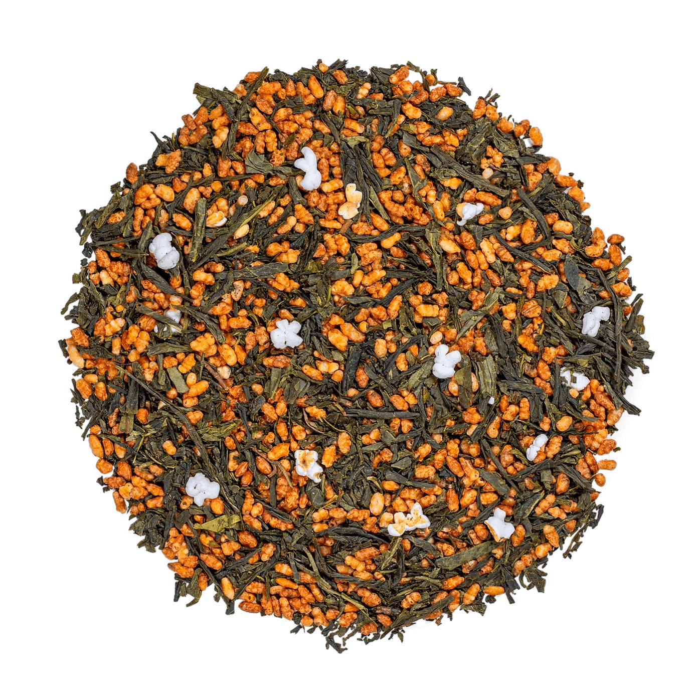 KUSMI TEA Genmaicha Bio - Thé vert aux grains de riz grillés et soufflés - Thé en vrac - Kusmi Tea