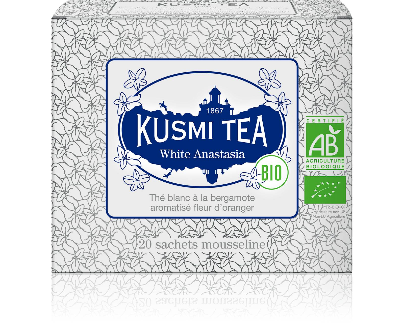 KUSMI TEA White Anastasia bio - Thé blanc, bergamote - Sachets de thé - Kusmi Tea