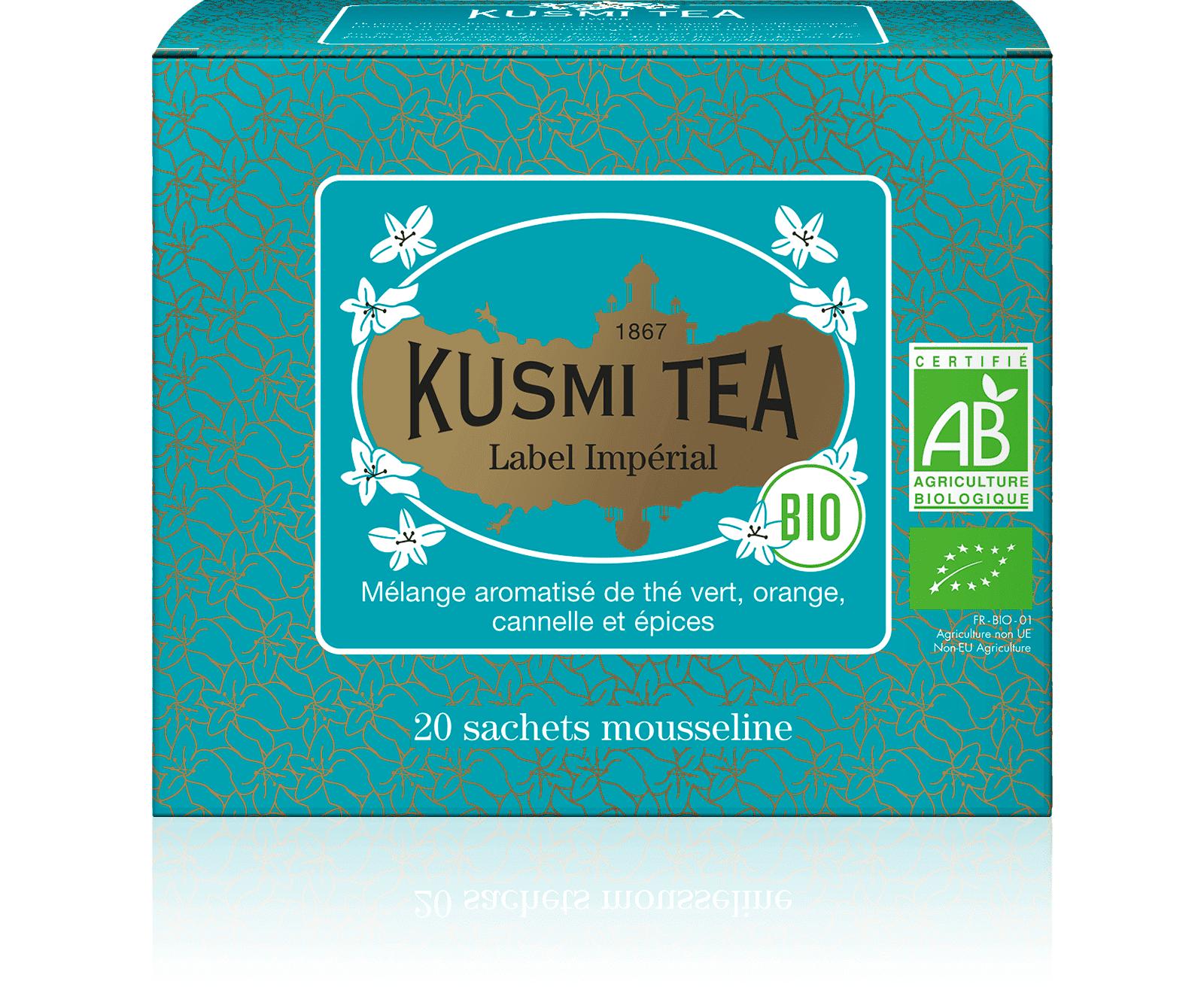 KUSMI TEA Label Imperial bio - Thé vert, épices, cannelle - Sachets de thé - Kusmi Tea