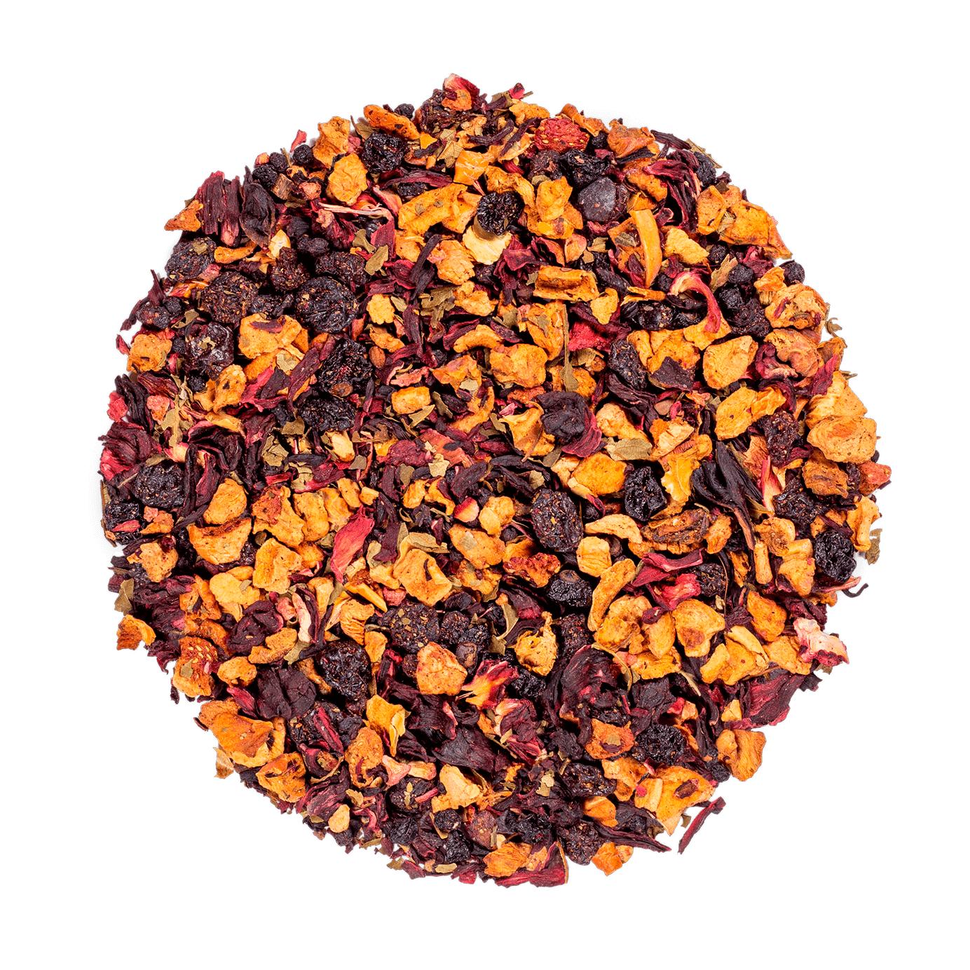 KUSMI TEA AquaRosa (Infusion de fruits bio) - Infusion hibiscus, fruits rouges - Thé en vrac - Kusmi Tea