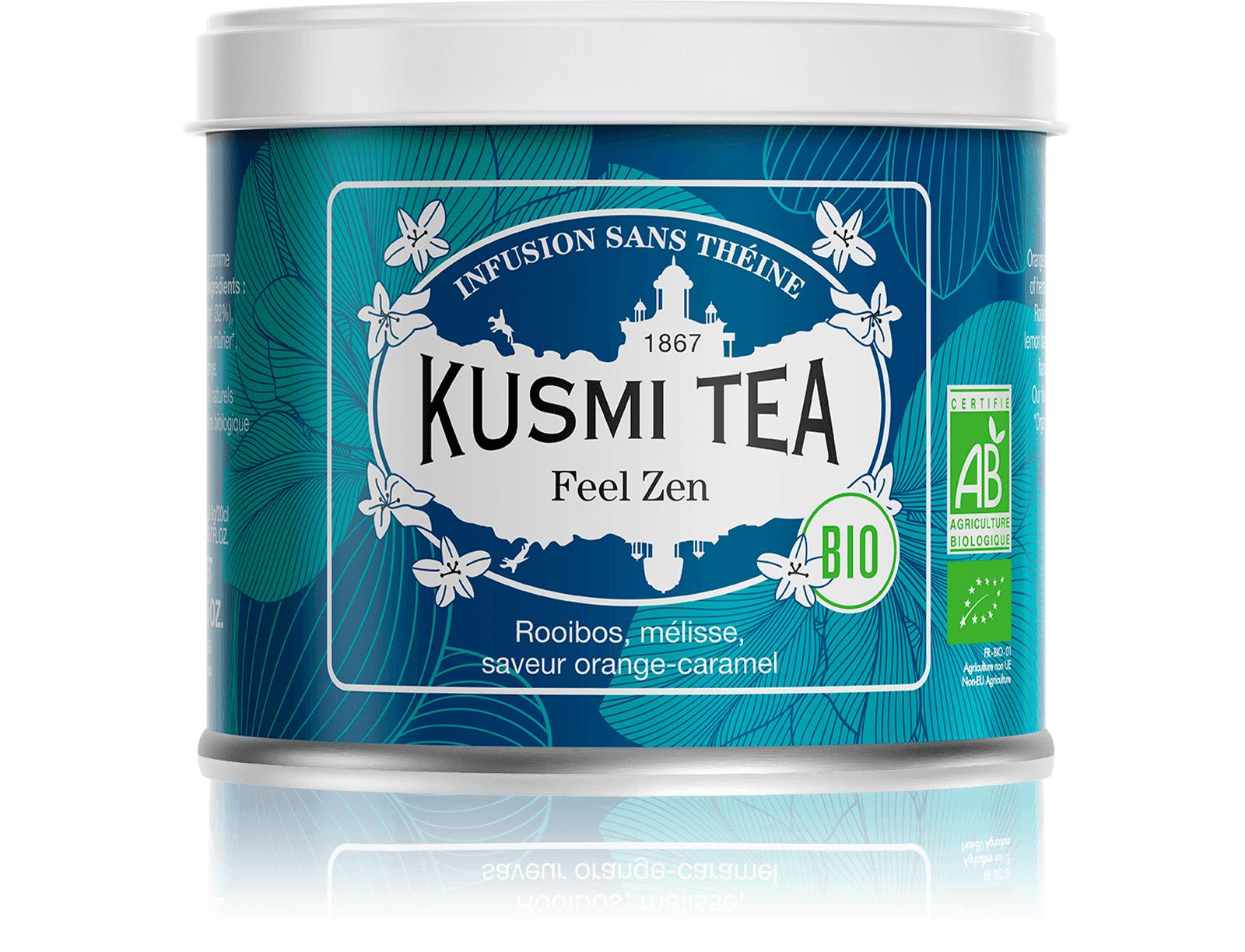 KUSMI TEA Feel Zen (Infusion bio) - Rooibos pomme, mélisse - Kusmi Tea