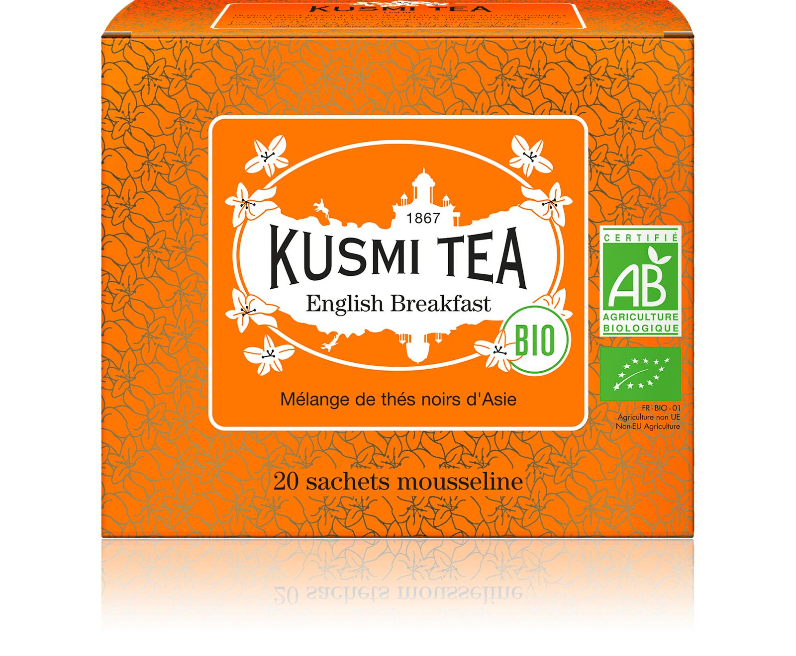 KUSMI TEA English Breakfast bio - Thé noir de Ceylan, Assam - Sachets de thé - Kusmi Tea