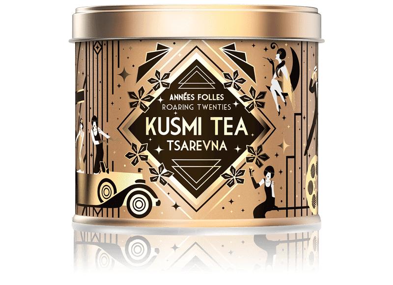 KUSMI TEA Tsarevna Bio - Mélange aromatisé de thé noir, orange et épices - Boite à thé en vrac - Kusmi Tea