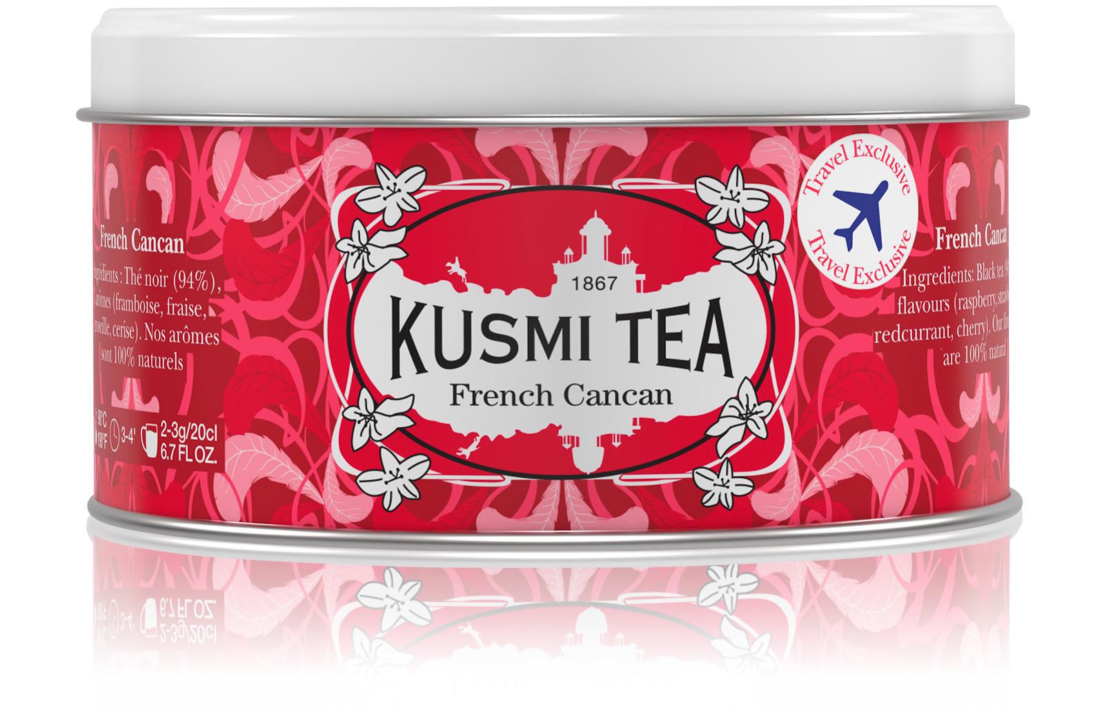 KUSMI TEA French Cancan - Thé noir, fruits rouges - Boîte de thé en vrac - Kusmi Tea