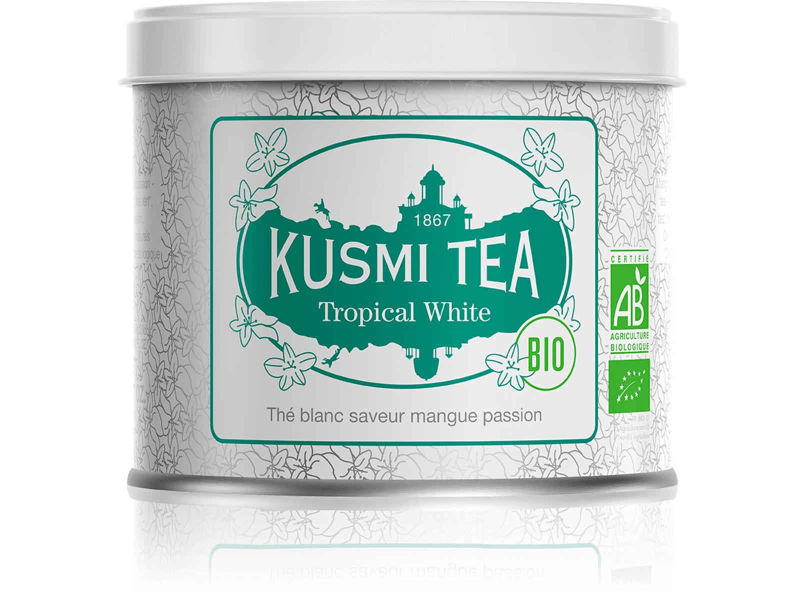 KUSMI TEA Tropical White bio - Thé blanc, mangue, passion - Kusmi Tea