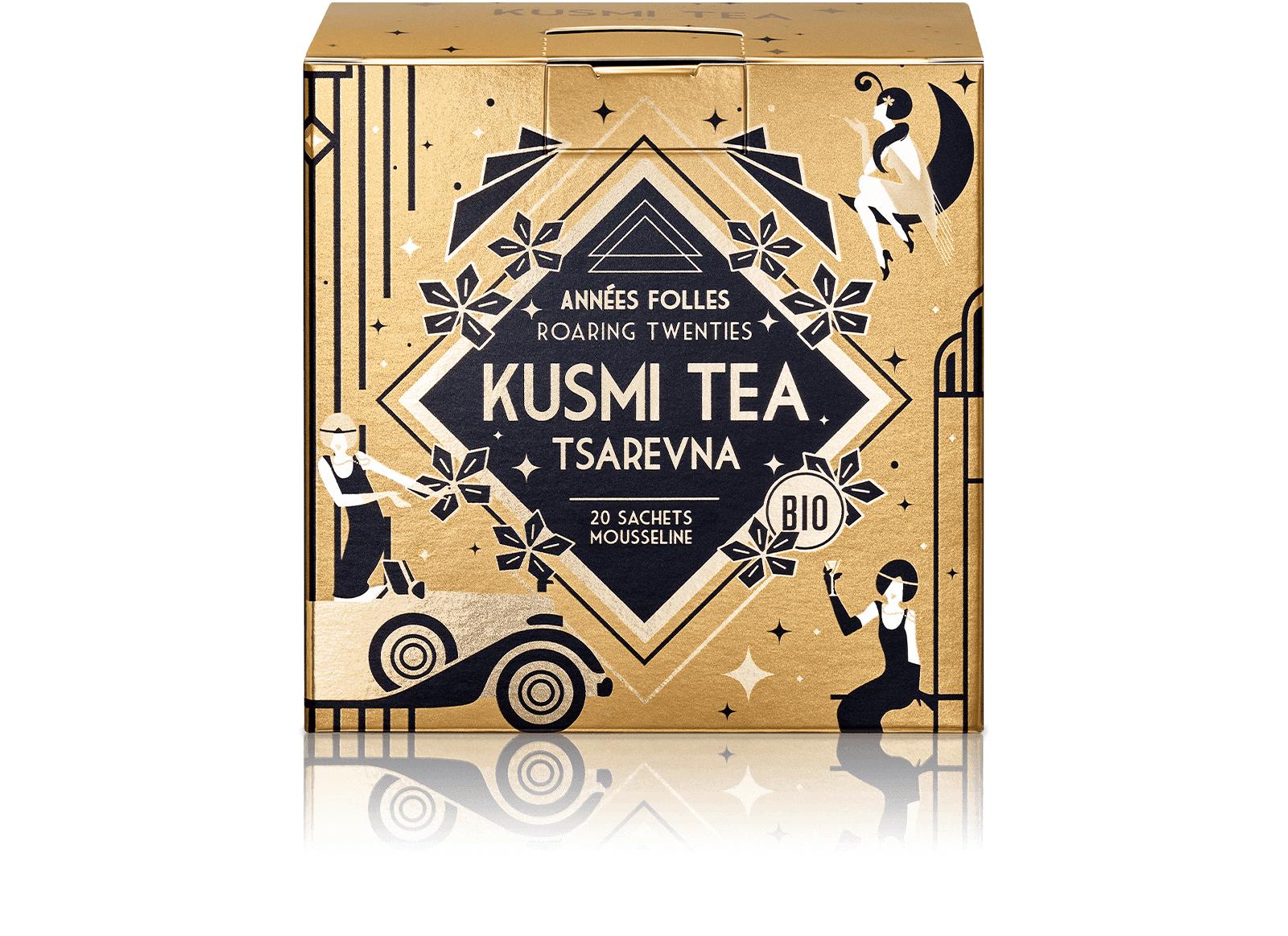 KUSMI TEA Tsarevna Bio - Mélange aromatisé de thé noir, orange et épices - Sachets de thé - Kusmi Tea