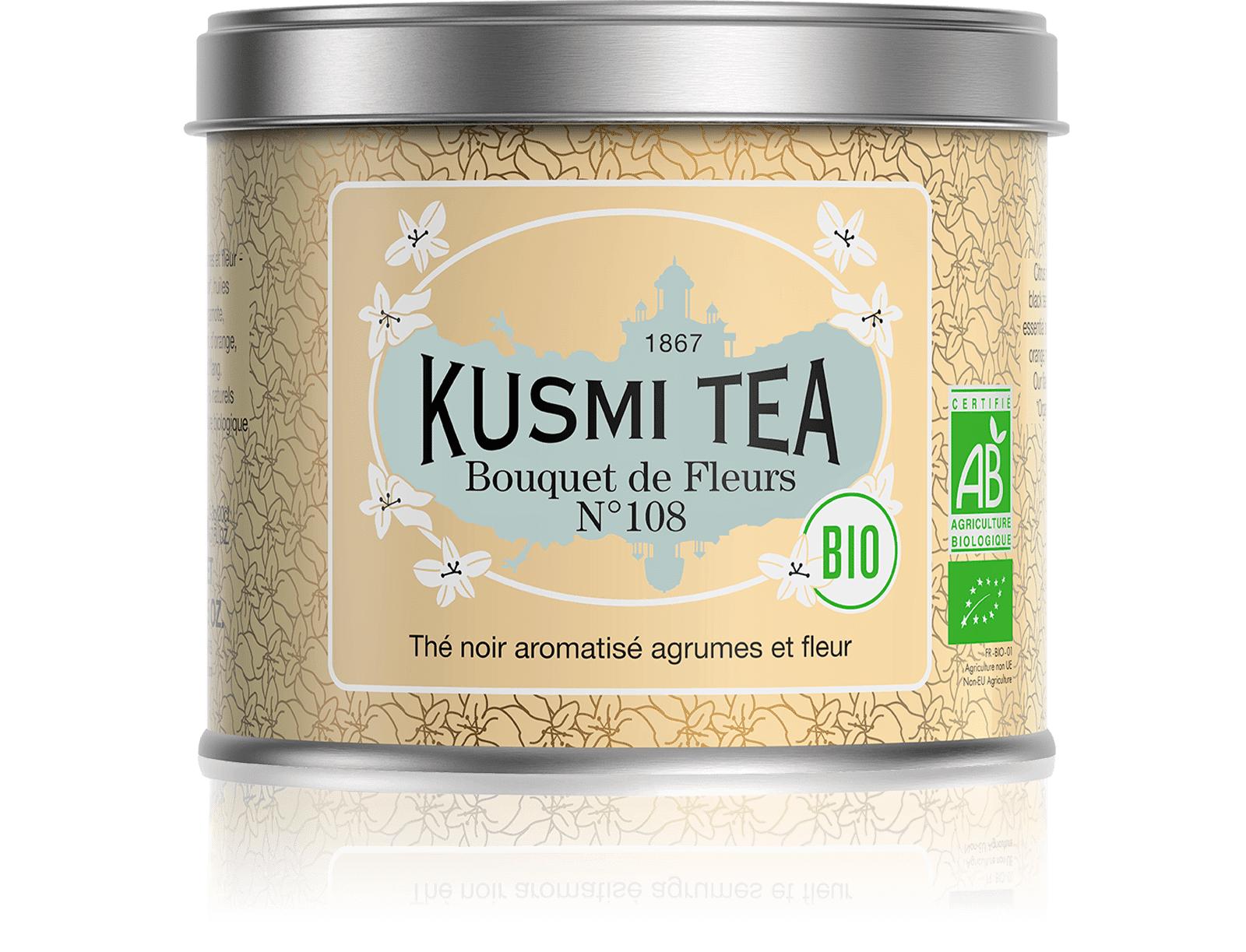 KUSMI TEA Bouquet de Fleurs N°108 bio - Thé earl grey, fleur Ylang-Ylang - Kusmi Tea