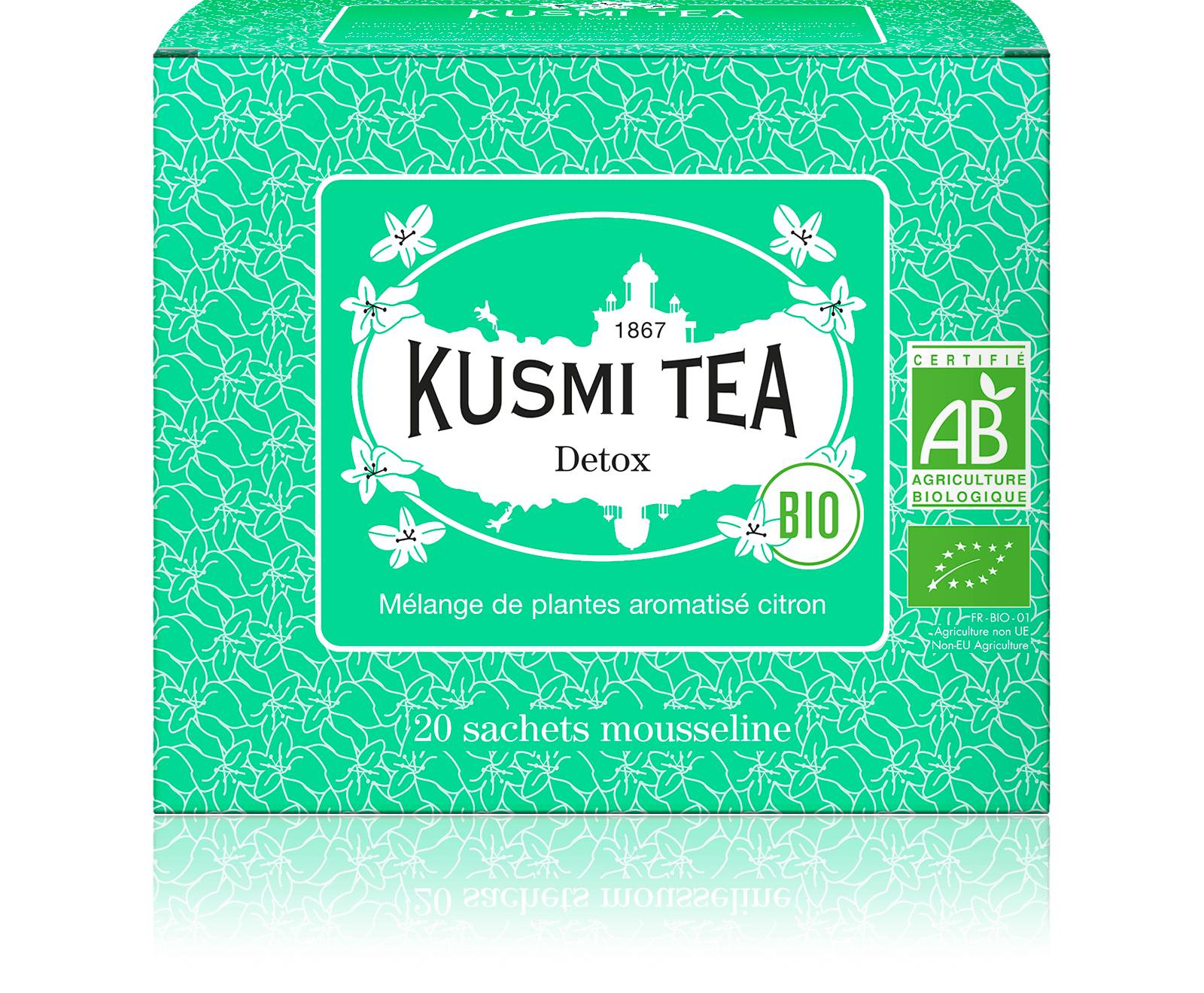 KUSMI TEA Detox bio - Thé vert, maté, citron - Sachets de thé - Kusmi Tea