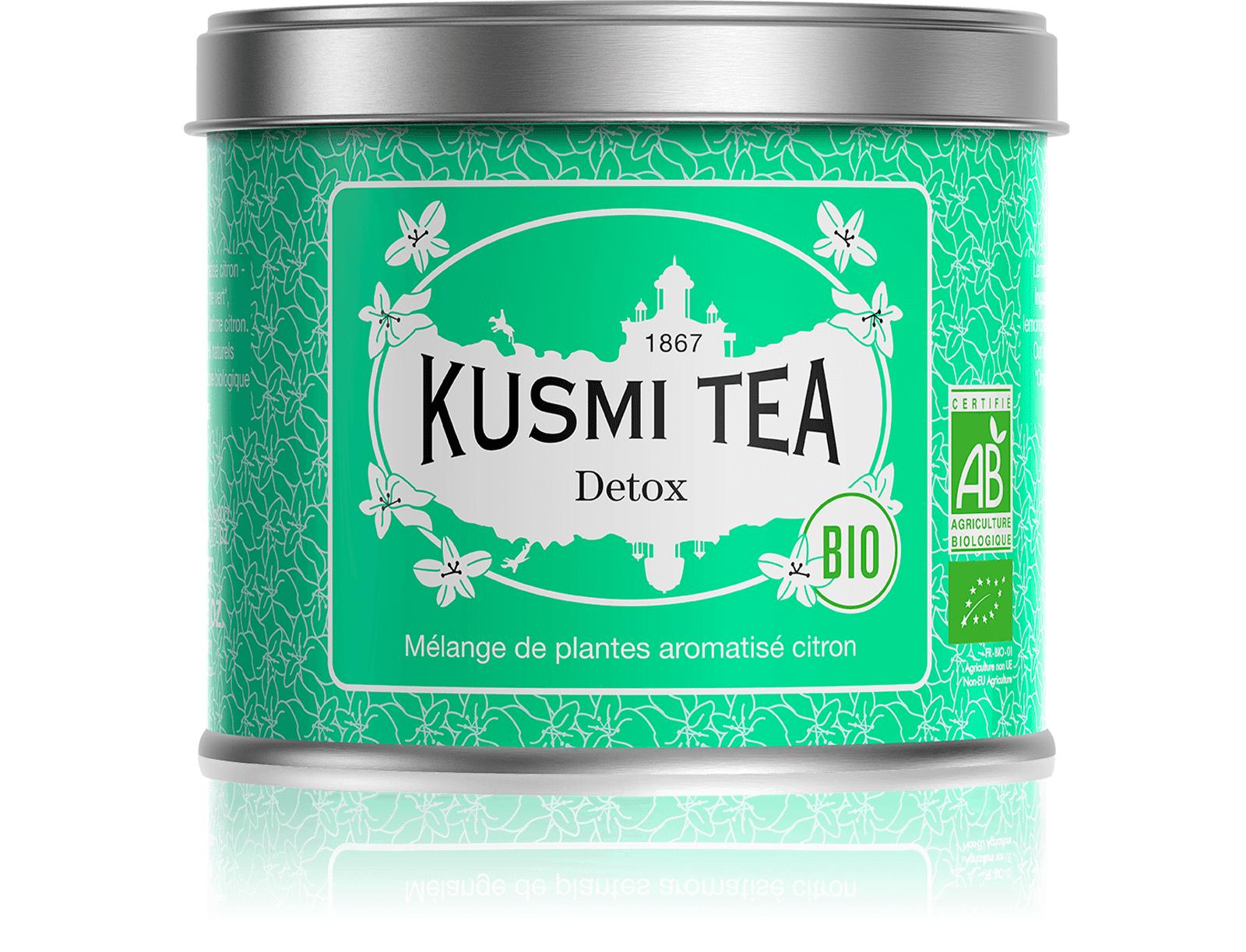 KUSMI TEA Detox bio - Thé vert, maté, citron - Boîte de thé en vrac - Kusmi Tea