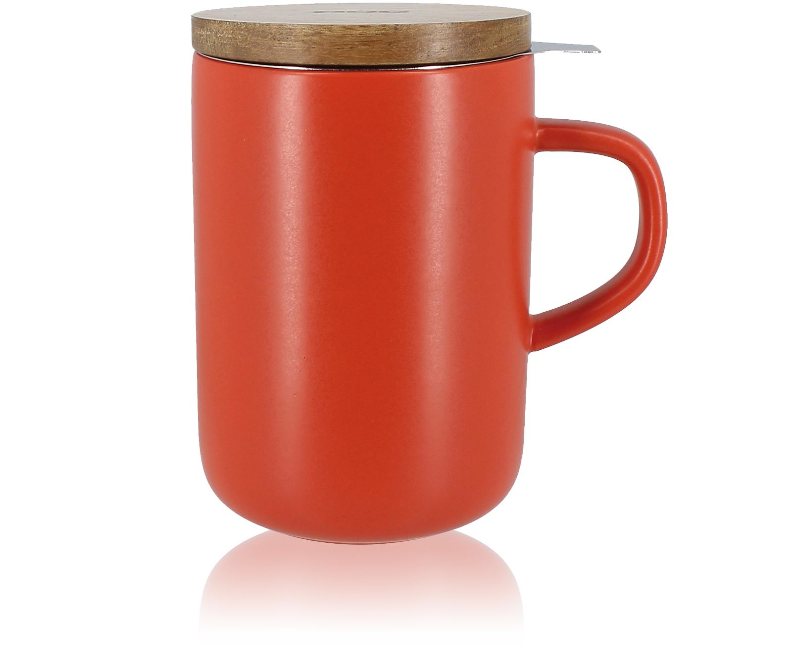 KUSMI TEA Tisanière en grès 48Cl, couvercle bois, filtre inox Kusmi Tea