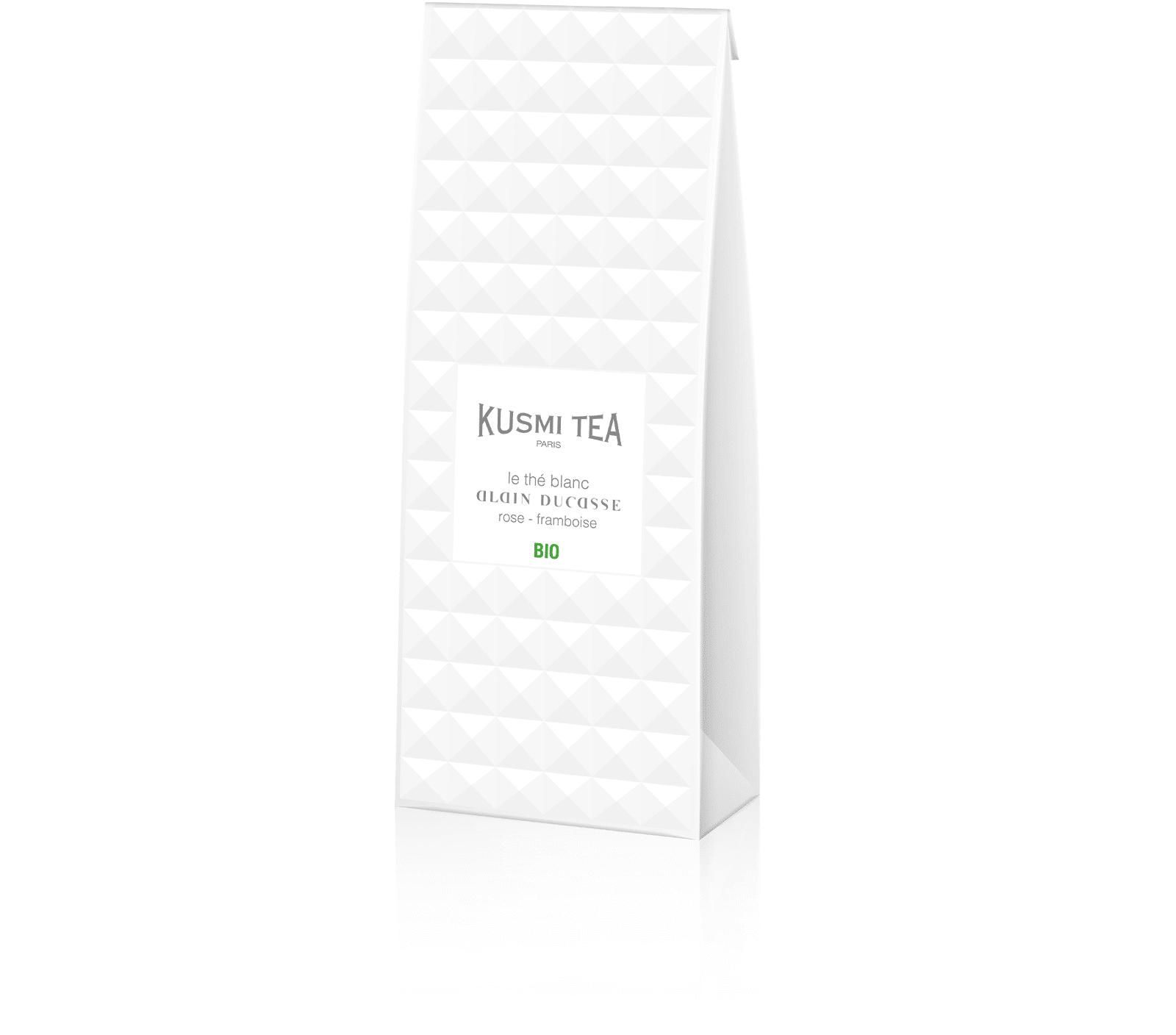 KUSMI TEA Le Thé Blanc Alain Ducasse Bio - Thé blanc aromatisé framboise et rose - Kusmi Tea