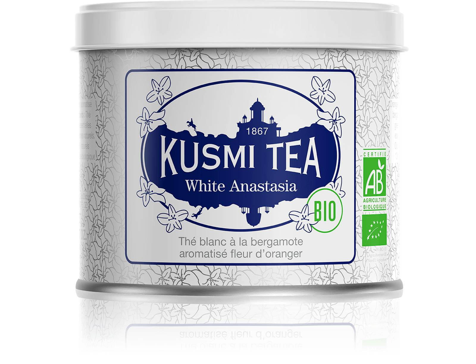 KUSMI TEA White Anastasia bio - Thé blanc, bergamote - Boîte de thé en vrac - Kusmi Tea