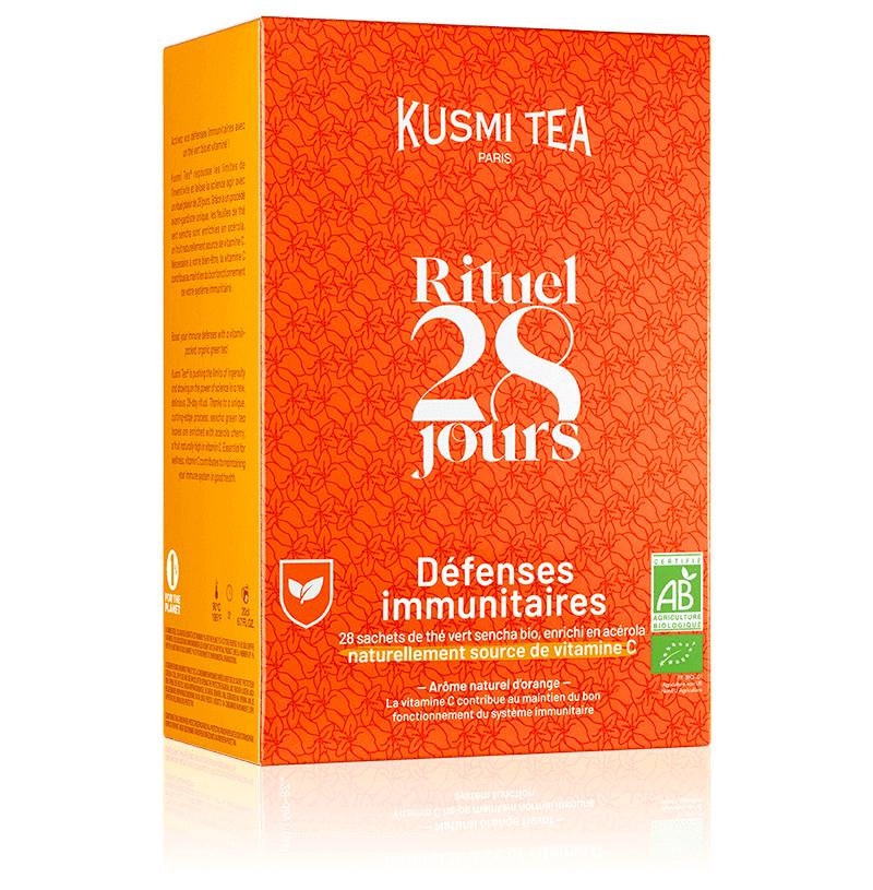 KUSMI TEA Rituel Défenses Immunitaires bio - Thé vert sencha bio naturellement enrichi en vitamine C - Sachets de thé - Kusmi Tea