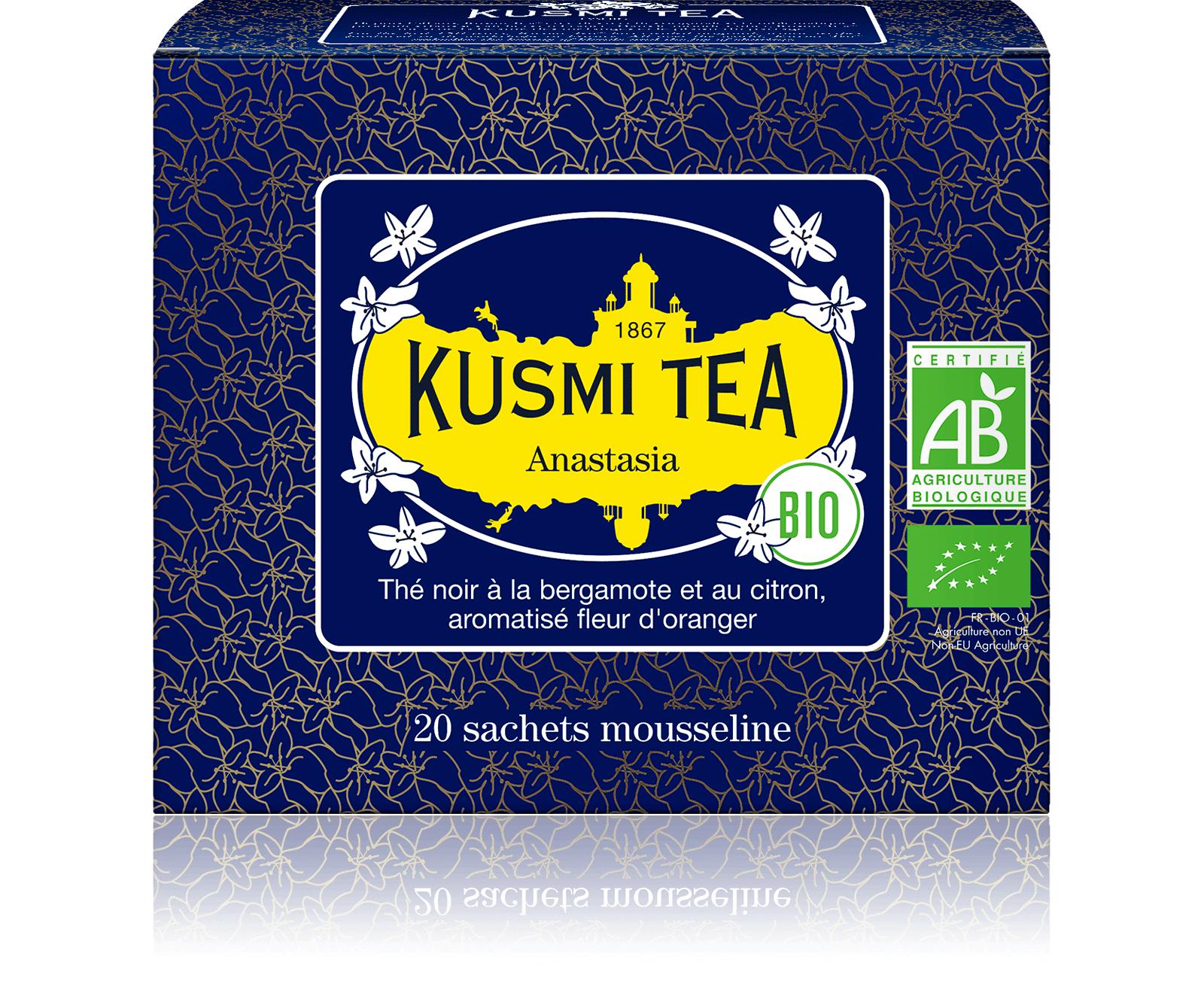 KUSMI TEA Anastasia bio - Thé noir earl grey, citron - Sachets de thé - Kusmi Tea
