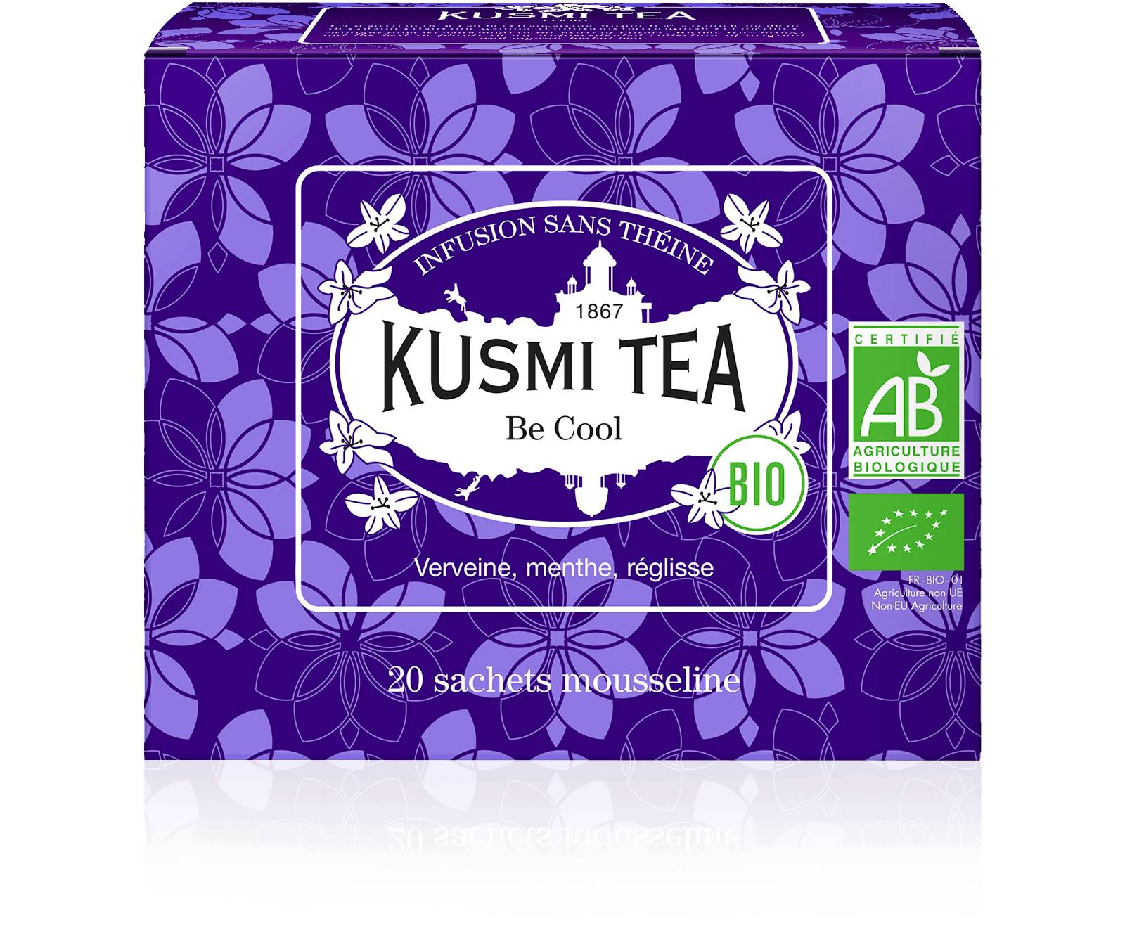 KUSMI TEA Be Cool bio - Infusion verveine - Sachets de thé - Kusmi Tea