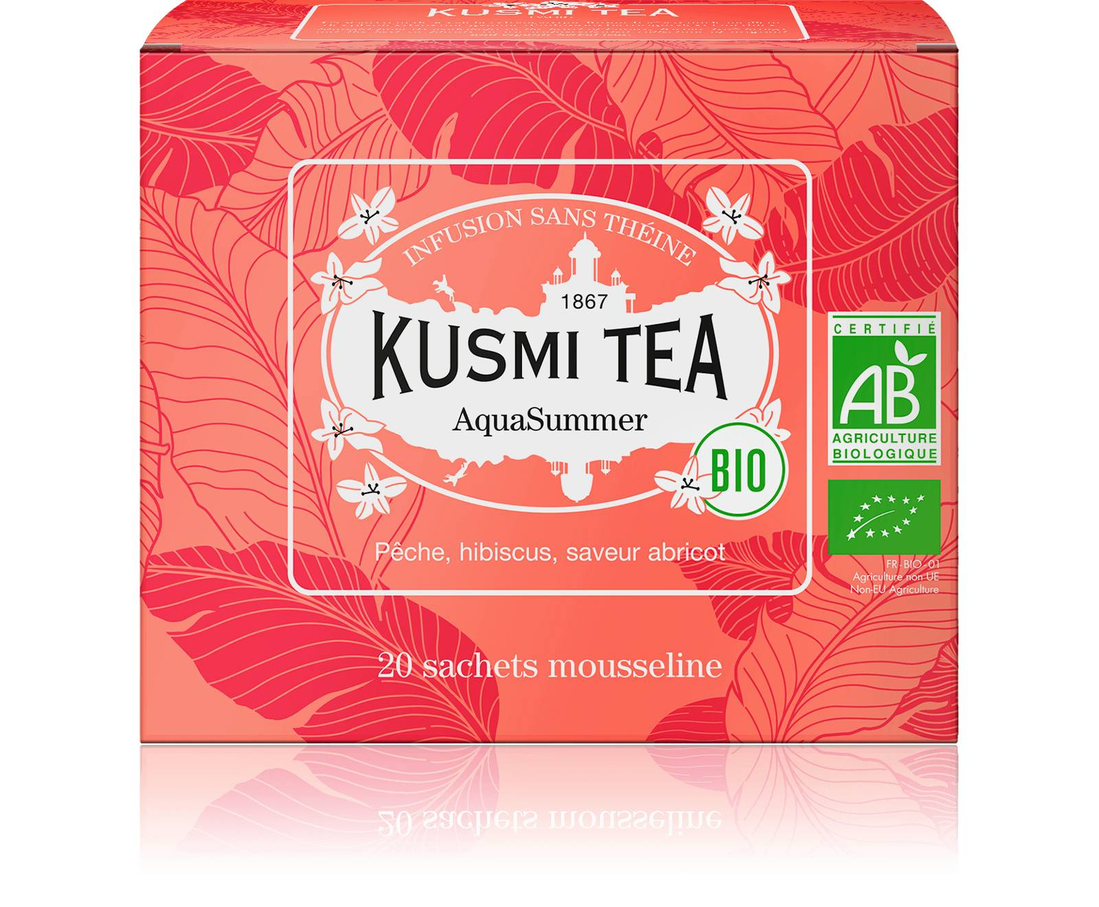 KUSMI TEA AquaSummer - Infusion de fruits et hibiscus bio -   Kusmi Tea