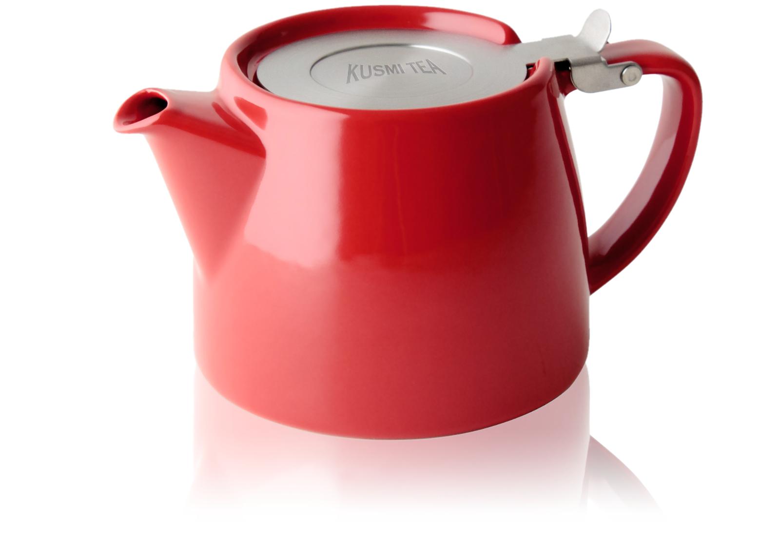 KUSMI TEA Théière Stump Kusmi 0,40L rouge (sans filtre)