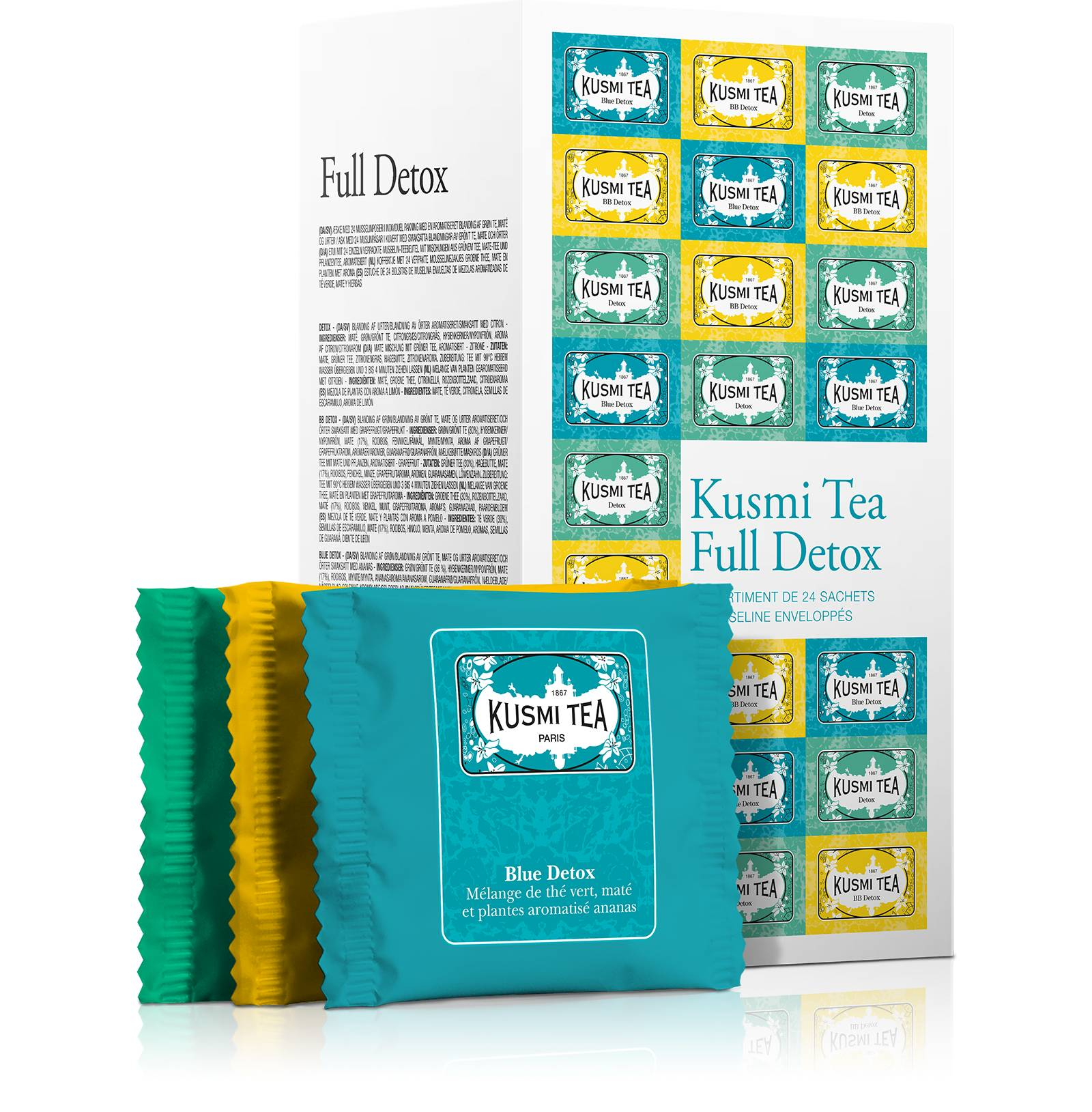KUSMI TEA Coffret thés Full Detox