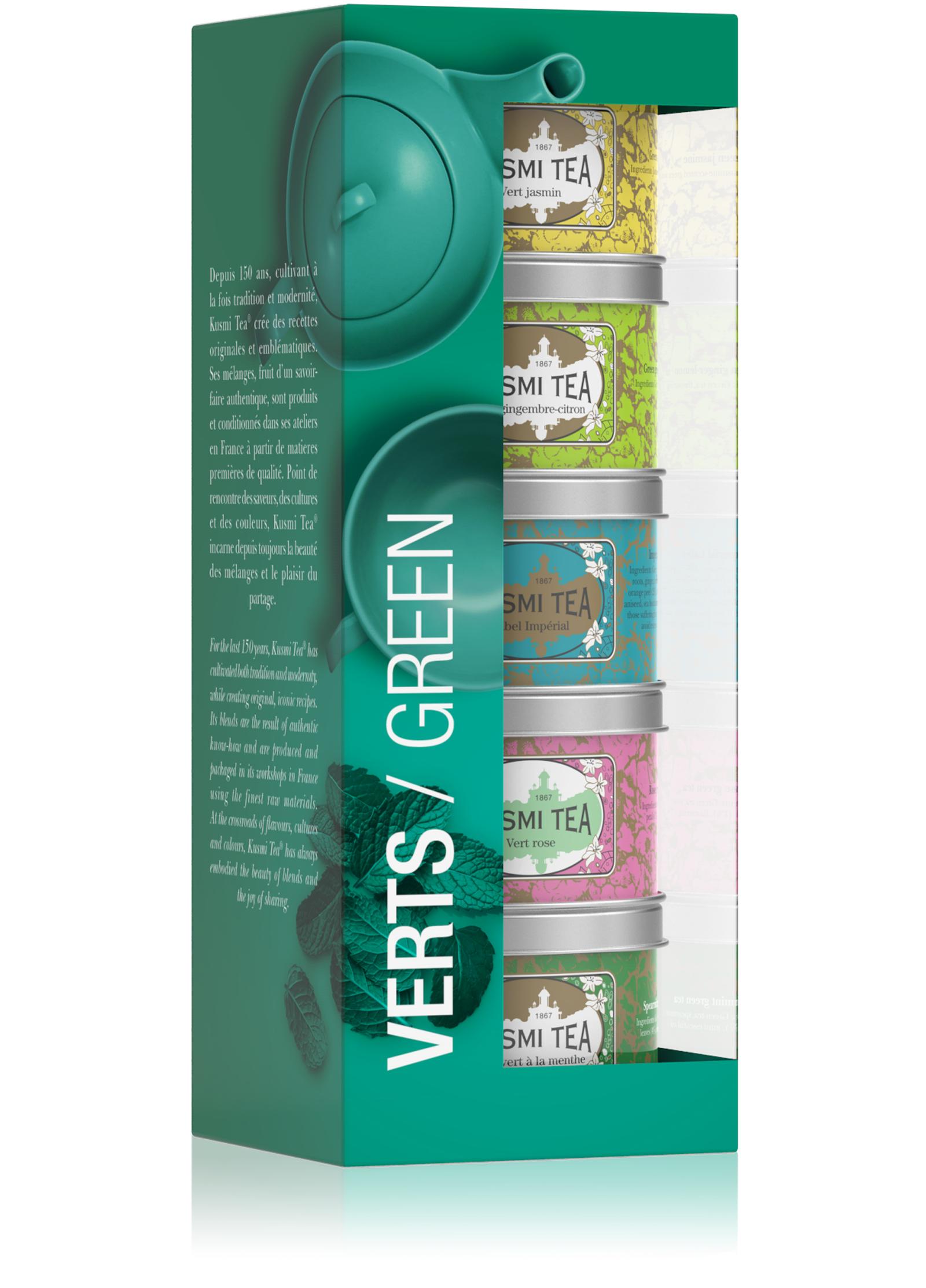 KUSMI TEA Coffret Les Verts Thé vert  Kusmi Tea