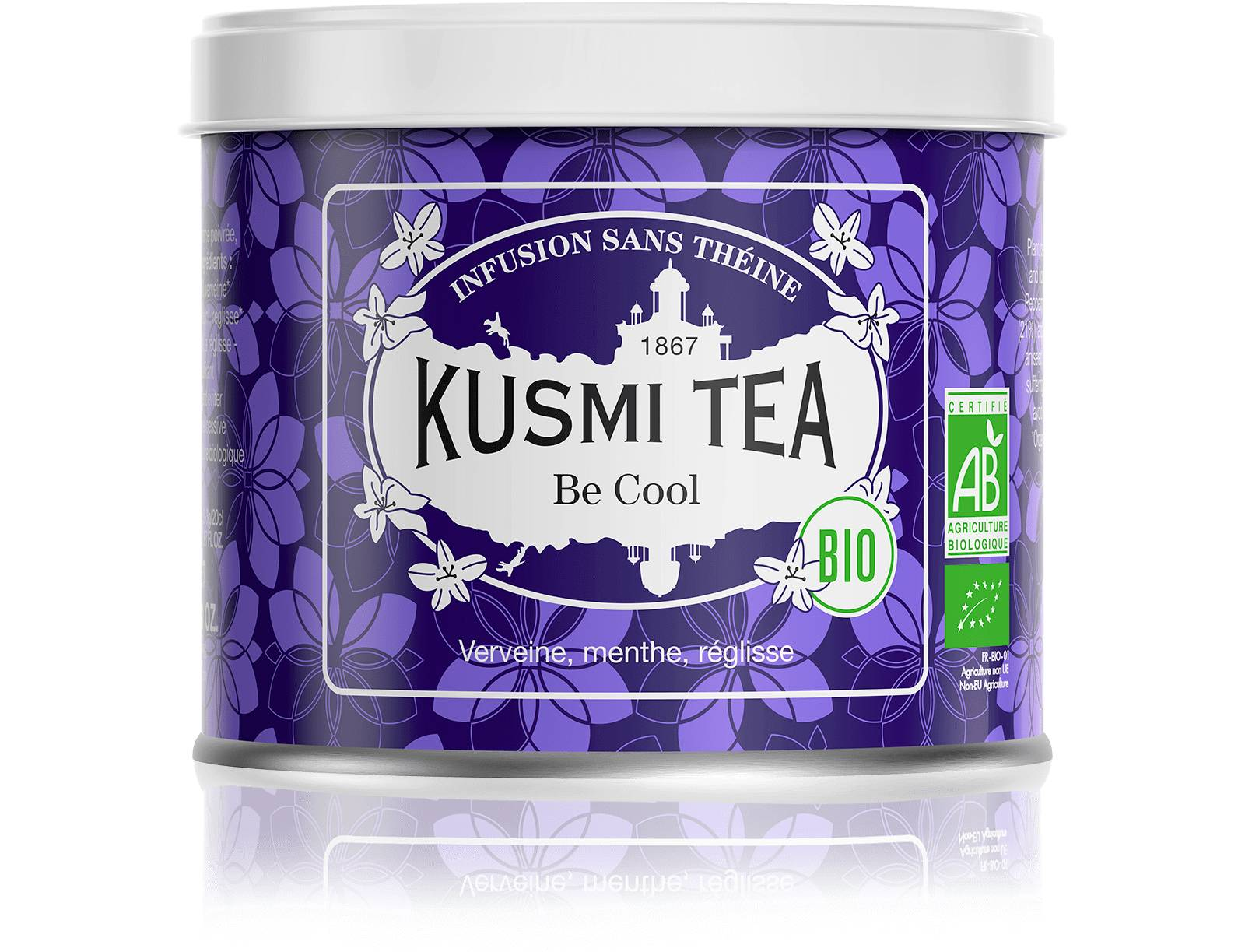 KUSMI TEA Be Cool bio - Infusion verveine - Boîte de thé en vrac - Kusmi Tea