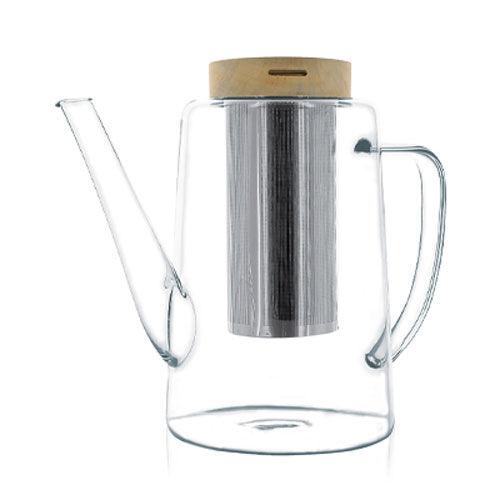 KUSMI TEA Théière en verre 1,2L couvercle bois avec filtre en verre/inox Kusmi Tea
