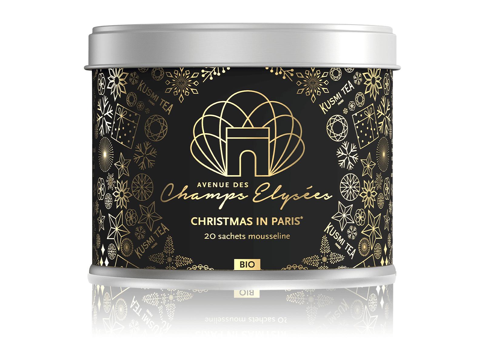 KUSMI TEA Christmas in Paris bio - Mélange de thé noir et d'épices aromatisé agrumes - Sachets de thé - Kusmi Tea