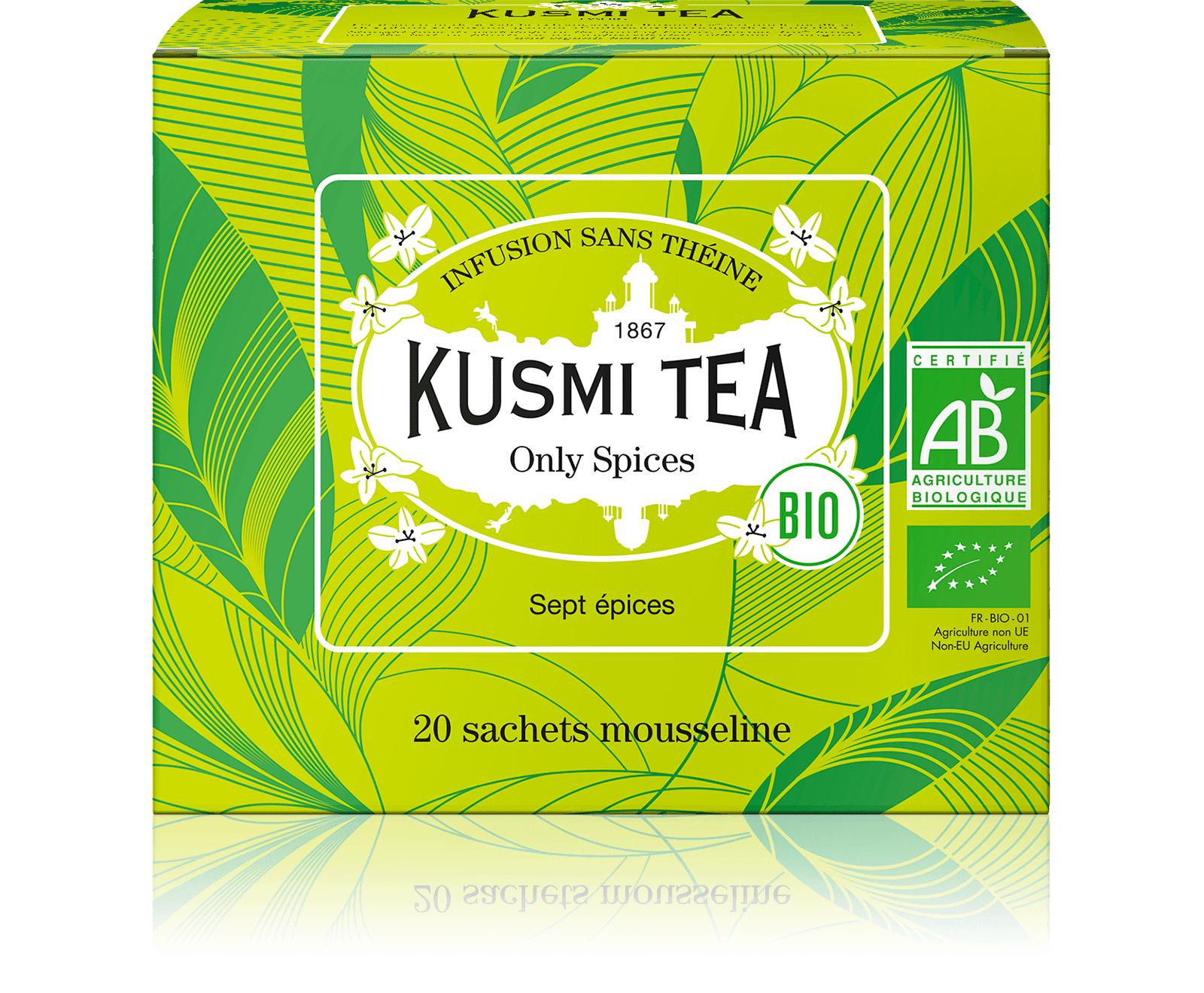 KUSMI TEA Only Spices (Infusion bio) - Fenouil, réglisse, anis - Sachets de thé - Kusmi Tea