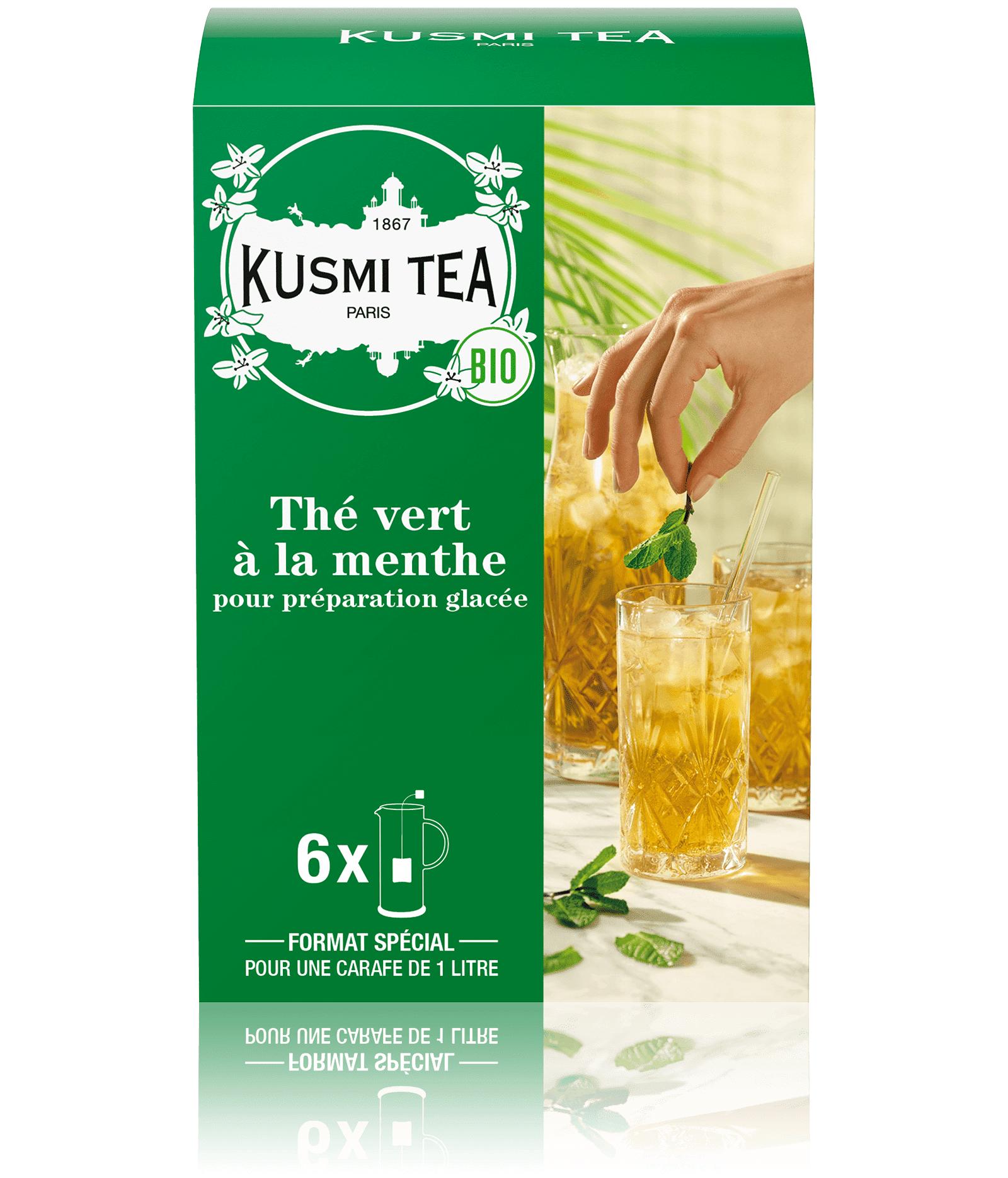 KUSMI TEA Thé vert à la menthe bio - Thé vert à la menthe - Sachets de thé - Kusmi Tea