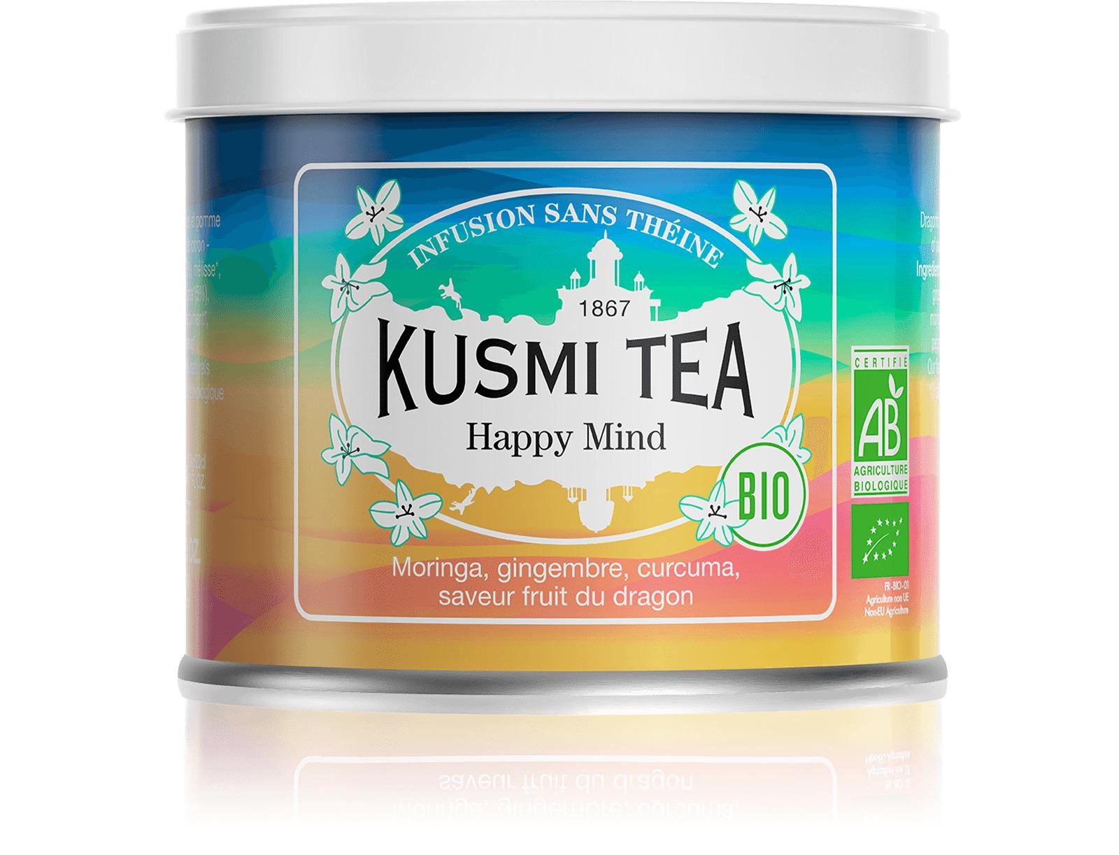 KUSMI TEA Happy Mind (Infusion bio) - Infusion de plantes, pomme - Kusmi Tea
