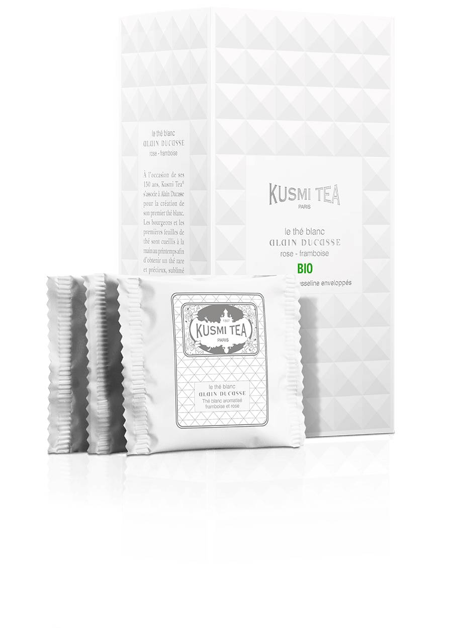 KUSMI TEA Le Thé Blanc Alain Ducasse Bio  Thé Blanc Kusmi Tea