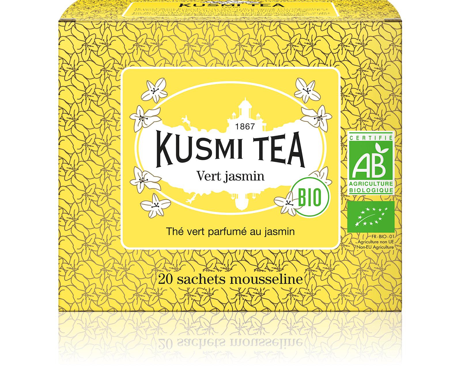KUSMI TEA Vert Jasmin bio - Thé vert au jasmin - Sachets de thé - Kusmi Tea