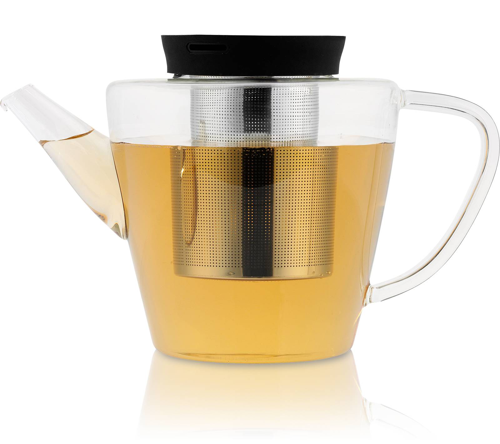 KUSMI TEA Théière Infusion en verre avec filtre 1L